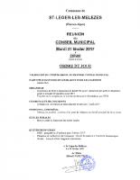 1. Ordre du jour du 21 février 2017