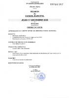 10. Ordre du jour du 17 décembre 2020