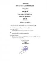 2. Ordre du jour du 23 mars 2017