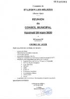 3. Ordre du jour du 20 mars 2020