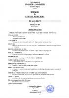 3. Ordre du jour du 24 juin 2021