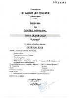 4. Ordre du jour du 28 mai 2020