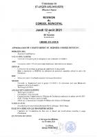 5. Ordre du jour du 12 août 2021