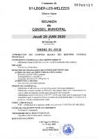 5. Ordre du jour du 25 juin 2020