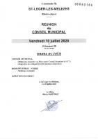 6. Ordre du jour du 10 juillet 2020