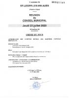 7. Ordre du jour du 23 juillet 2020