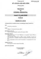 8. Ordre du jour du 13 août 2020