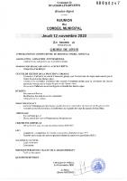 9. Ordre du jour du 10 novembre 2020