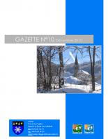 Gazette n°10 décembre 2012